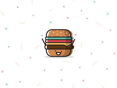 Food! celebration fun print background pattern character happy illustration food burger