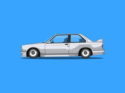 BMW E30 M3 profile illustration automotive m3 e30 bmw
