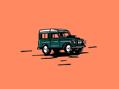 Defender doodle car car art ipadpro defender landrover illustration