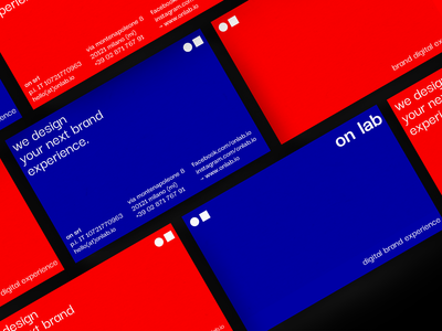 on lab — business cards