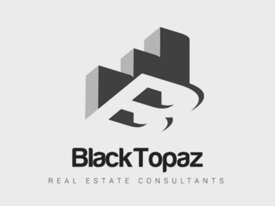 Black Topaz realestate logo branding