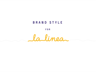 LaLinea Logo vector clean brand typography type minimal logo illustrator identity graphic design flat illustration branding animation