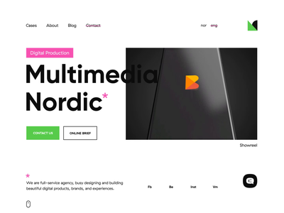 Multimedia Nordic site web design website ux ui mobile ios icons app vector illustration art type minimal identity graphic design flat clean branding brand animation