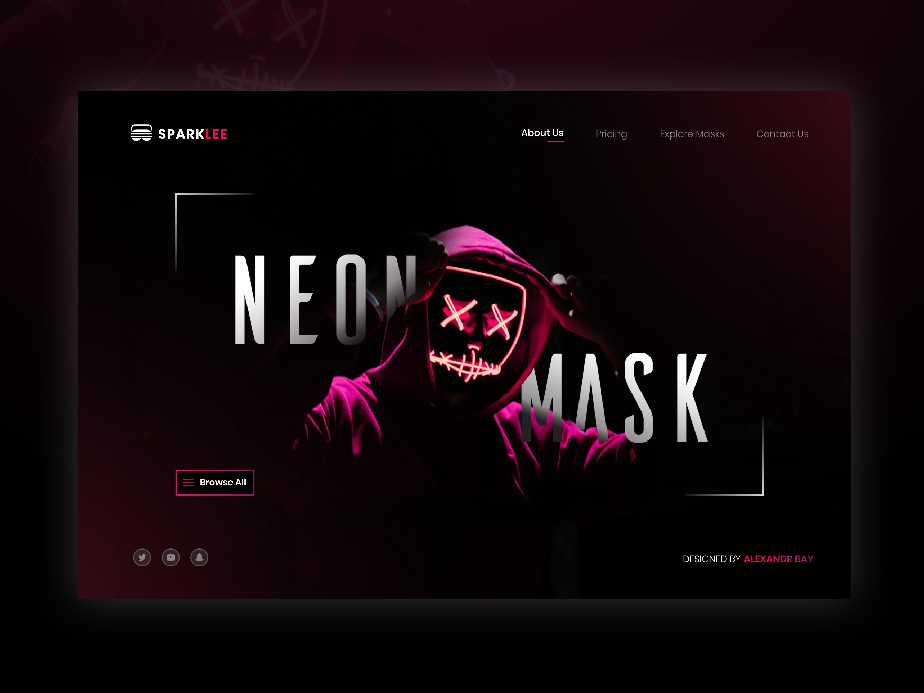 Sparklee   masks shop concept