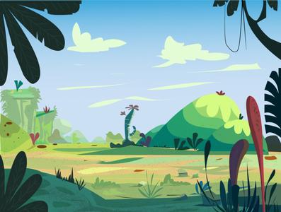 Landscape Illustration game art background animation website flat digital art vector flat illustration design illustration