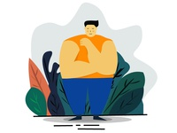 Fat man illustration