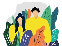 couple flat illustration