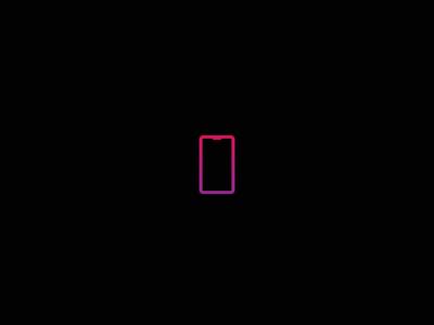 Mobile Gradient Icon
