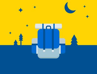 Camping Bag Poster