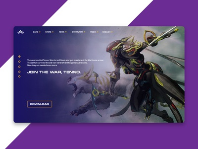 Warframe Landing Page Concept