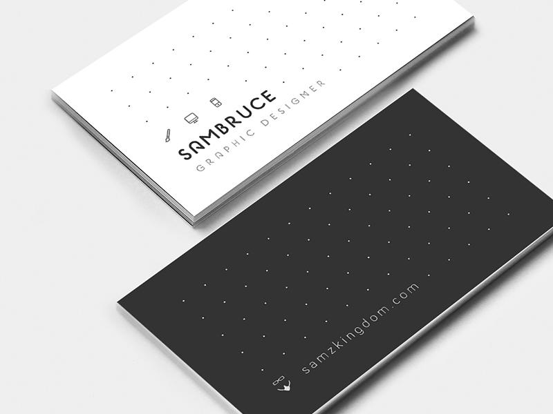 Dotts | Business Card Design simple design branding print icons clean sexy elegant businesscard white black minimal