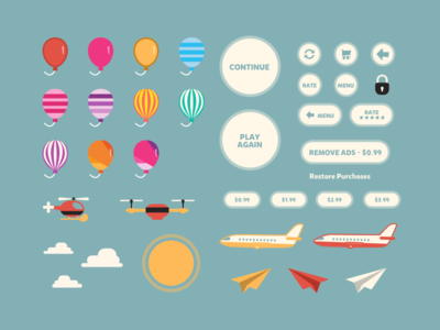 Balloon Kit - Flat Game Assets