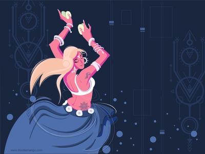 The Goddess of Beauty - Creative Illustration