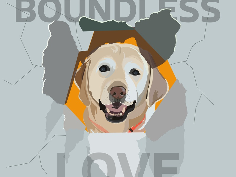 Boundless Love by Dog puppies inspiration illustration design illustration art illustrations sketch pet cute animal cute love dog illustration puppy illustration creative art creative illustration dog art dogs dog