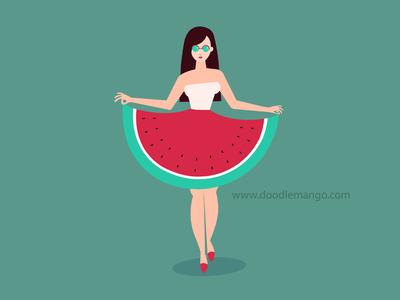 Watermelon Dress : Character Design