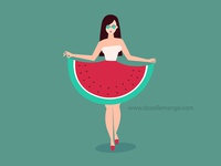 Watermelon Dress : Character Design