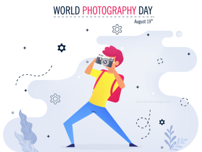 World Photographic Day - DoodleMango
