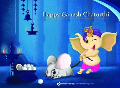 Ganesh Chaturthi Illustration