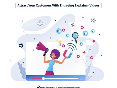 Attract Your Customers With Engaging Explainer Videos explainer video animation 2d graphic animation beauty art animation digital art design creative illustration creative art illustration