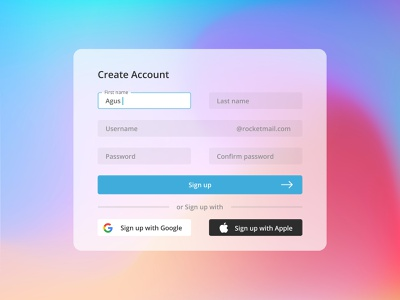 Sign up Mesh Background signup page signup minimal icon login screen login page ui design login