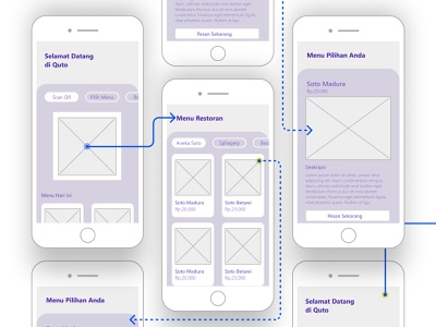 Low Fidelity Quto App design minimal mockup ui low-fi low-fidelity low fidelity wireframe kit wireframe