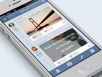 Micro Bloggin UI for iPhone App | UI, UX, App