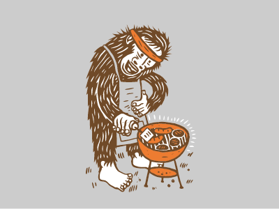 Sasquatch Shirt Design II for Lucky Monkey lucky montana yetti tshirt art illustration quickjosh missoula joshquick