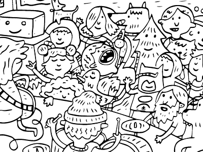Illustration for coloring book by Josh Quick