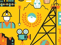 Butte Film Festival Icons by Josh Quick