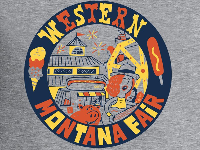 Fair Shirt missoula josh quick song happy fair illustration digital yellow orange gray fireworks ferriswheel music icecream hotdog