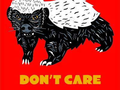 Shirt for some friends in Idaho vectorvictor illustration shirtdesign digital yelloweyes dontcare badger honey black