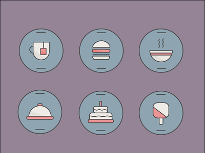 Food Icons icon illustrator food design vector