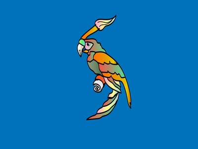 Creative Flat Parrot Background 01