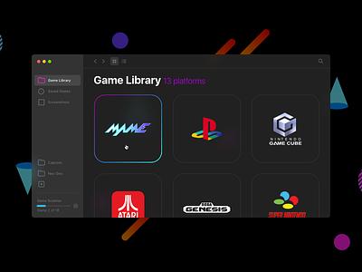OpenEmu UI redesign interface layout application openemu retrowave ui