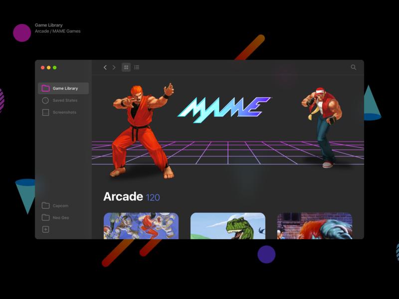 OpenEmu Interface gaming arcade emulator interface openemu app desktop app ui