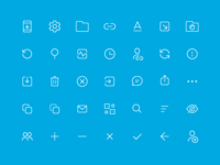 Tresorit for Android action icons