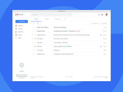 Gmail Redesign Concept — Elements concept redesign google gmail