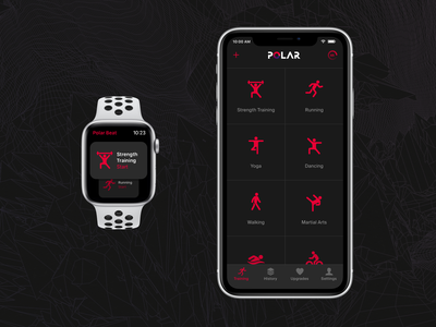 Polar Beats redesign interface concept ui apple fitness design ios app polar