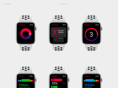 Polar Beats for watchOS application app apple watch watch apple interface ui polar