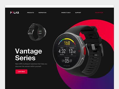 Polar Website ui interface redesign fitness layout website polar