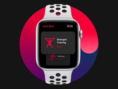 Polar Beat for watchOS concept watchos apple apple watch interface redesign ui polar