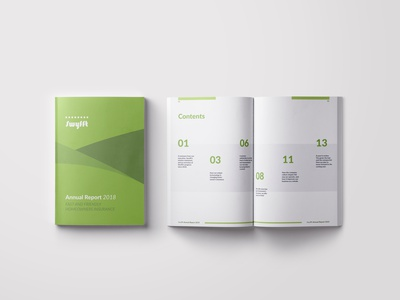 Swyfft Annual Report typography editorial annual report editorial layout design
