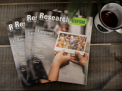 University Research Magazine - Cover Design