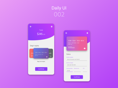 Card UI - Daily UI 002 dailyui