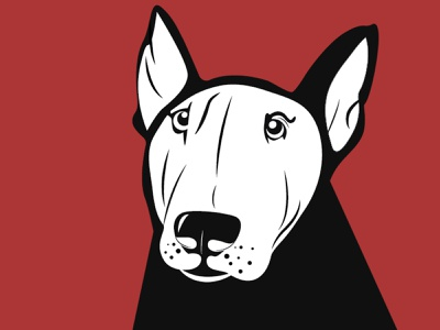 B Dog illustration illustrator woof bull terrier dog flat design adobe illustrator