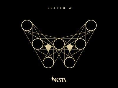 Tangent - letter W