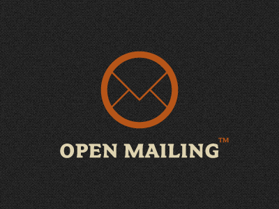 OpenMailing logo WIP logo branding concept logotype emailing mailing newsletter routing opensource hosting clean simple effective