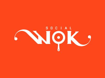 Social Wok social wok logo logotype logos marketing type typography