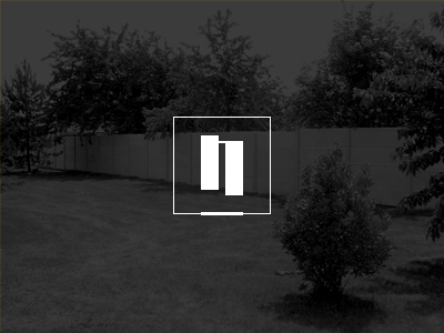 Nomblot logo concept nomblot fence concrete gate fenced spaces logo design concept minimal solid