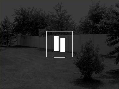 Nomblot logo concept nomblot fence concrete gate fenced spaces logo design concept minimal solid